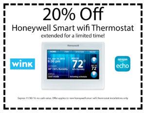 honeywell smart WiFi thermostat